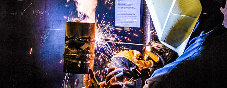 welder training in classroom