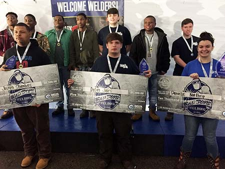 Memphis-Area High School Students Awarded Scholarships for Welding Skills in Regional Competition hosted by Delta Technical College
