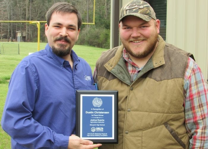 Delta Technical College Presents Donation to McLaurin High School Welding Department