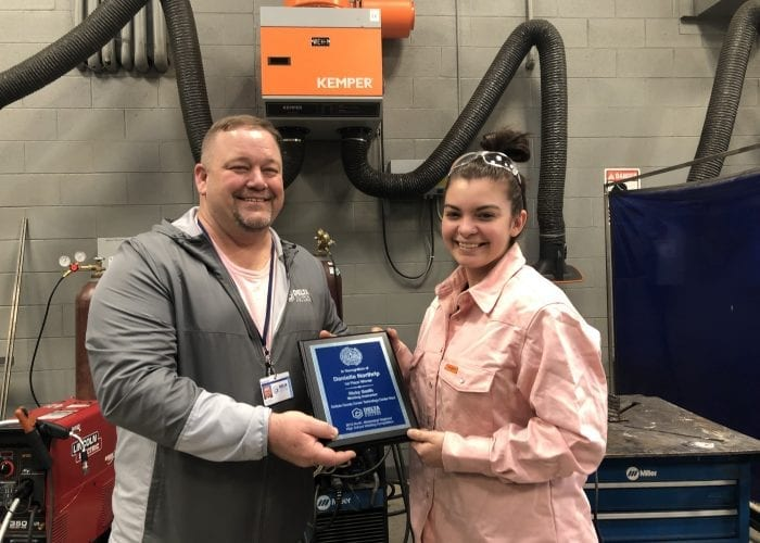Delta Technical College Presents Donation to DeSoto County Career Technology Center West Welding Department